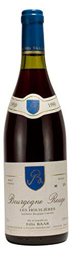 Bourgogne Rouge Les Houilières 1990 - Besonderer Pinot Noir Jahrgangswein aus Burgund Frankreich ideal als edles Geschenk für Jubiläen, Hochzeiten und Geburtstagen