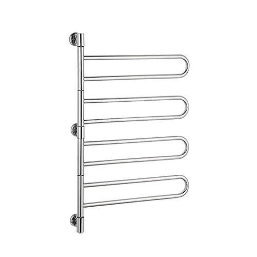 Schwenkbarer Handtuchwärmer und Wäscheständer, 8-Stangen Platz sparen Handtuchhalter Gestell Herausschwenkbarer Handtuchhalter Klapparm Schwenkbarer Handtuchhalter Aufhänger Elektrischer Handtuchwärm