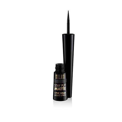 Milani Stay Put Matte Liquid Eyeliner - Waterproof Liquid Eyeliner Pen, Long Lasting & Smudgeproof Makeup Pen Black
