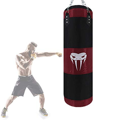 Grist CC Colgando Boxing Ball, Boxeo Duradero con Cadena De Montaje para Deporte, Alivio del Estrés, Boxeo, Saco De Arena para Entrenamiento Pesado (Hueco),120cm