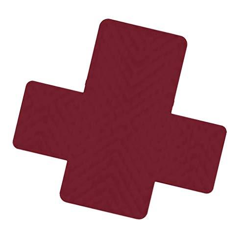 FLAMEER Sesselschoner Sofaschoner Sesselschutz Sofaüberwurf Armlehnen Schoner für 1ß4 Sitzer Sofa Couch - Red_1 Sitzer