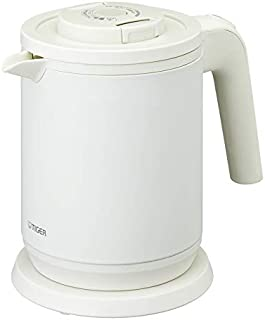 タイガー魔法瓶 電気ケトル 6 Safe 安心・安全機能 マットホワイト 0.8L PCK A080