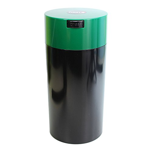 Tightvac - 5oz to 24 Ounce Vacuum Sealed Container - Black Body/Forest GreenCap