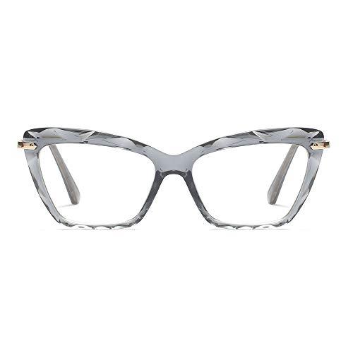 Womens Cat Eye Reading Glasses Fashion Crystal Eyewear Frame (Grey,1.5)