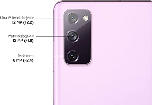 Samsung Galaxy S20 FE, Android Smartphone ohne Vertrag, 6,5 Zoll Super AMOLED Display, 4.500 mAh Akku, 128 GB/ 6 GB RAM, Handy in Cloud Lavender inkl 36 Monate Herstellergarantie [Exklusiv bei Amazon]