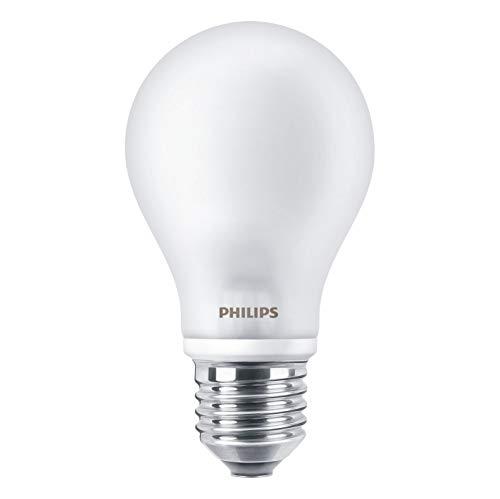 Philips - Confezione da 4 lampadine a LED classiche, sostituisce 60 Watt, E27, luce bianca calda, 2700 Kelvin, 806 lumen, classe di efficienza energetica A++, opache