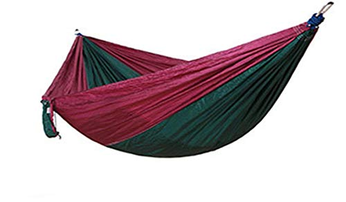 Camping Hammock Portable Lightweight Double Parachute Hammock for Backpacking, Travel, Beach, Backyard, Patio, Hiking (Multicolor 4,270140CM)