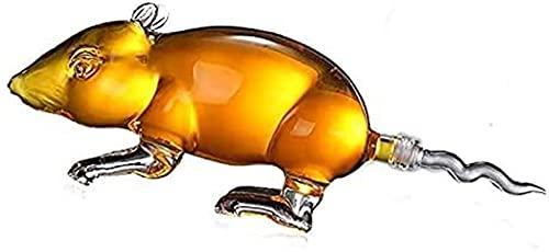 KDHSD Decantadores Creative Whisky Decanter Animal En Forma de Estilo Home Car Decantadores de Vino Libre de Plomo Vodka Shochu Pot para Licor Scotch Bourbon 50 0ML / 1000ML (Size : 500ML)