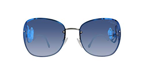 Roberto Cavalli RC1027 RC1027-16X-Blau Rechteckig Sonnenbrille 58, Blau