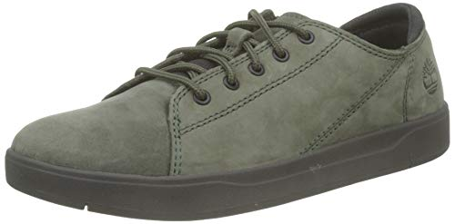 Timberland Davis Square TD Leather Oxford (Junior), Zapatillas Bajas Unisex Adulto, Verde Dark Green Nubuck, 38 EU
