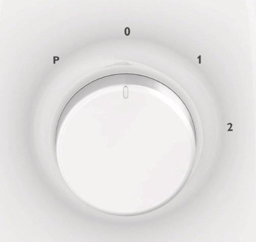 Philips HR2100/00 Frullatore, 400 W, 1.5 Litri, Plastica, 2 velocità, Bianco