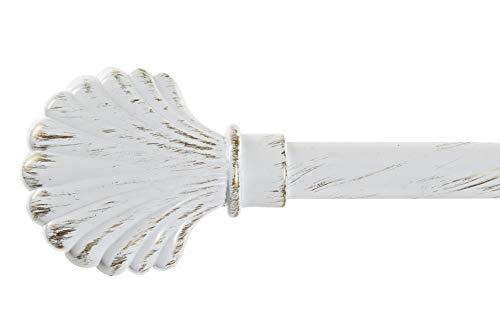 Dream Hogar Barra de Cortina Extensible de Metal Blanca Minimalista para Dormitorio de 120-210 cm (Concha)
