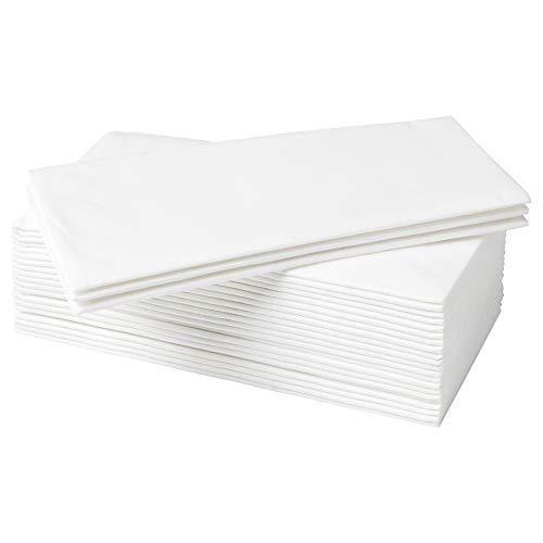 IKEA MOTTAGA - Servilletas de papel gruesas (38 x 38 cm, 50 unidades), color blanco
