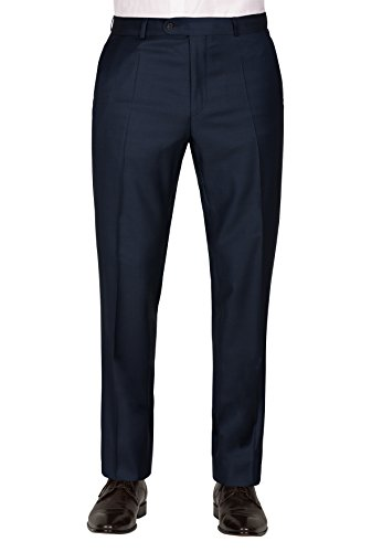 Carl Gross Mannen Regular Fit pak broek Sascha, Blauw (Blauw 63), 48 (Manufacturer Maat: 44)