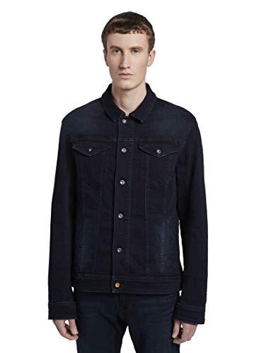 TOM TAILOR Denim Herren Jacken & Jackets Jeansjacke mit Brusttaschen Blue Black Denim,L