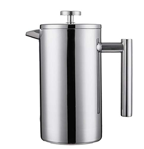Purchase XXDMZ French Press Coffee Maker Best Double Walled Stainless Steel Cafetiere Insulated Coffee Tea Maker Pot Giving One Filter Baskets, 1000ml