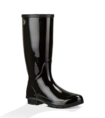 UGG Women's Shaye Rain Boot, Black, 12 B US