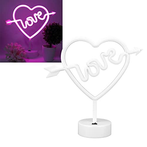 Voluxe Luz de neón, lámpara de neón alimentada por USB/batería para decoración de Paredes para Bodas, Fiestas, niños, Sala de Estar