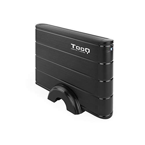 TooQ TQE-3530B - Carcasa para Discos Duros HDD de 3.5', (SATA I/II/III, USB 3.0), Aluminio, indicador LED, Color Negro, 350 grs.