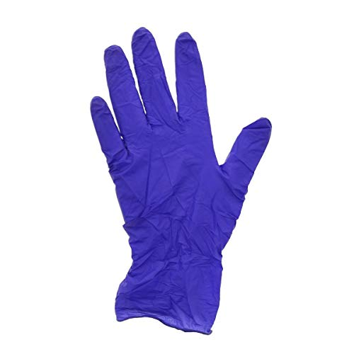 AmerCare Med-Edge Powder Free Exam Gloves, Blue Nitrile, Medium, Box of 200