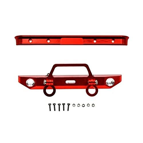 LSB-DOCCIA Per Axial SCX24 AXI00001 Chevrolet C10 Telaio 1/24 RC Crawler Auto Metallo Anteriore e Posteriore Paraurti Aggiornamento Parti Accessori (colore : Rosso)