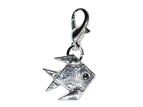 Miniblings pez de Plata del Encanto del Tirador de la Cremallera Remolque Senbazuru Peces Animales de Origami