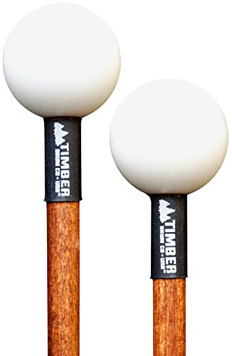 Timber Drum Co. T2HP, MADE IN U.S.A. Pair of Hard Polymer Mallets for Energy Chime, Xylophone, Wood Block, and Bells