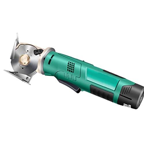 Función eléctrica tijeras sin cable verde de la tela redonda máquina de mano automático de afilado de un paño textil Power Tools Piel