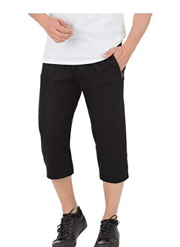 Trigema Trigema Herren 3/4 Freizeithose Baumwolle 615292, Pantalon de sport Homme, Schwarz (Schwarz 008), L (Taille fabricant: L)