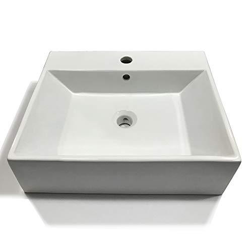 Lavabo Da Appoggio Ceramica Bianco Lavandino Lavello Arredo 2 Misure