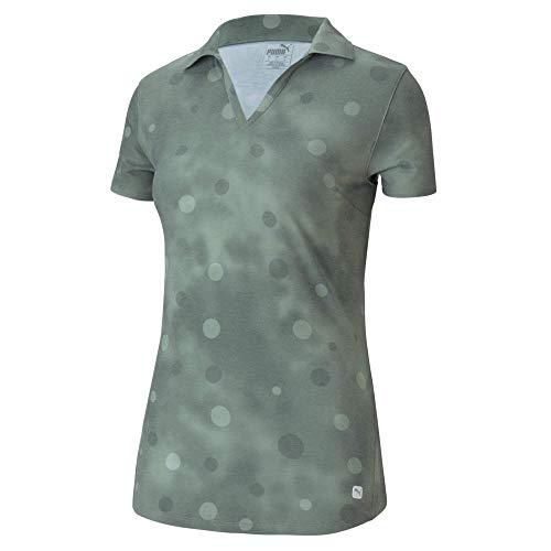 PUMA Golf Damen Poloshirt 2020 Polka Dye, Damen, Polo, Golf Women's 2020 Polka Dye Polo, Thymian, X-Large