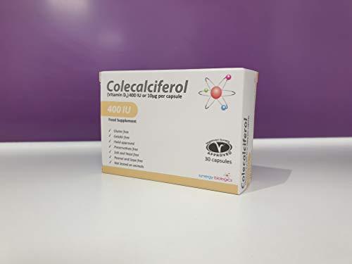 Synergy Biologics Colecalciferol VIT D3 400 IU Capsules 30