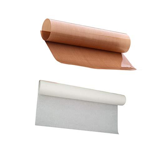 B Blesiya PTFE - Alfombrilla para hornear (resistente al calor, 2 unidades, para macarones/pasteles/galletas/bol/pan, antiadherente de grado profesional)