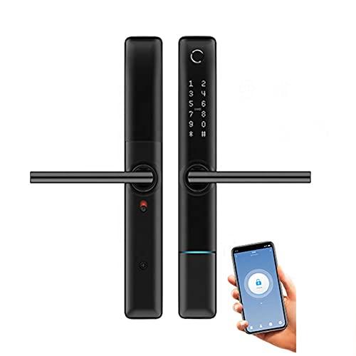 Tuya Smart Door Lock,Keyless Entry WiFi Lock, Free APP, IC Card, Anti-Peep Code, Smart Lever for Home, Office