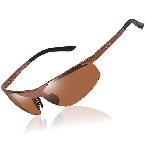 DUCO DUCO Sport Stil Sonnenbrille Polarisiert Herren Treiber Brille 6806S (Braun/Braun)