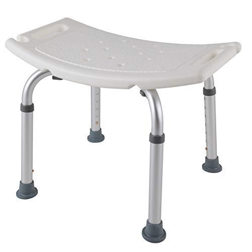 SAILUN Medical Duschhocker Duschstuhl Duschhilfe Duschsitz Badsitz Duschhocker Aluminium & HDPE Höhenverstellbar 38-53cm Anti-Rutsch ohne Rückenlehne (Modell 1)