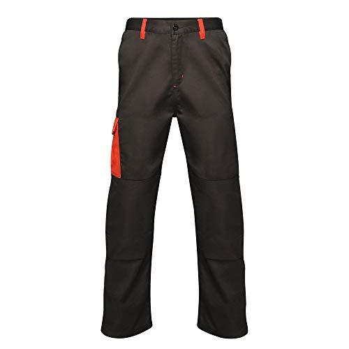 Regatta Pantalon imperméable à Triple Couture pour Homme XXL Noir/Rouge Classique.