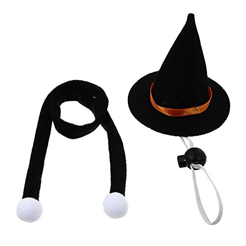 STOBOK Disfraz de Halloween de Lagartija Bufanda de Sombrero de Bruja Bufanda de Dragón Barbudo de Halloween Ropa para Hámster Conejillo de Indias Chinchilla Erizo Lagartija Barbudo