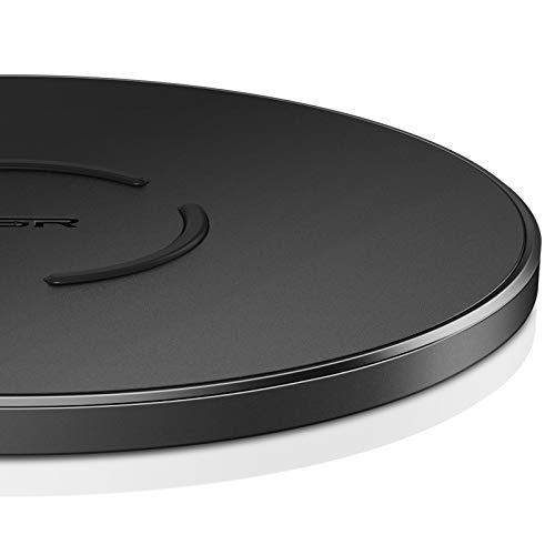 ESR Chargeur sans Fil à Induction 15W Compatible avec Samsung S21/S21 Plus/S21 Ultra/S20/S10/S9/A52/Note 20/Note 10, iPhone 12/SE2/11/X/8, Huawei P30 Pro/Lite/P20, AirPods Pro, sans Adaptateur, Noir