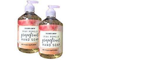 [Value Pack of 2] Trader Joe's Pink Pomelo Grapefruit Hand Soap 17Fl.Oz
