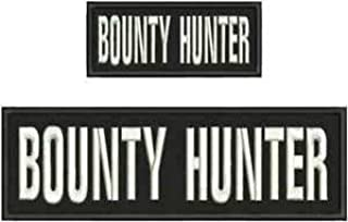 Bounty Hunter Embroidery Patch 3X10 and 2X5 Hook ON Back OD BLK/White by HighQ Store