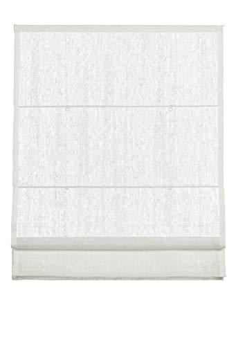 Gardinia Klöckner Raffrollo inkl. Montage-Teile, Hasta Collection, Weiß, 120 x 160 cm
