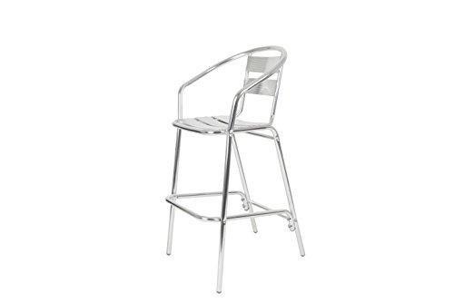 Inconnu Chaise pour terrasse empilable Aluminium