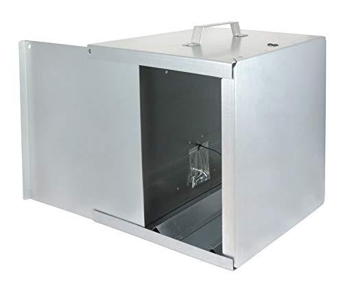 Eider Weidezaun Metall 12V-Weidezaungeräte-Verzinkt-Schützt vor Witterung und schränkt die Sichtbarkeit EIN Tragekasten, Natur