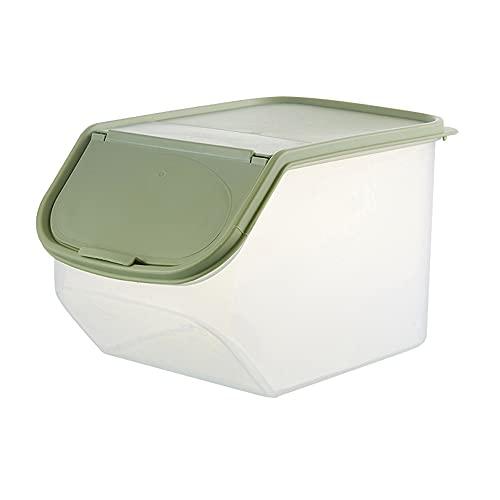 Kaijia Caja de almacenamiento de arroz transparente de grado alimenticio PP barril de arroz con taza de medición