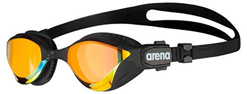 Arena Cobra Tri Mirror Triathlon Swim Goggles, Yellow/Copper/Black, Swipe Anti-Fog (New)