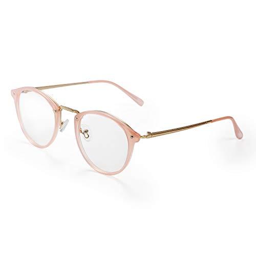 Aroncent Damen-Sichtbrille, transparent, komfortabel, ultraleicht, Farbe wählbar Rosa