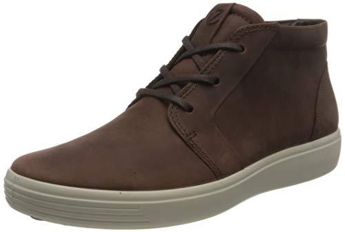 ECCO Herren Soft 7 M OilNubuck Sneaker, Braun (Chocolat), 45 EU