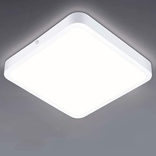 LED Panel Flach 22W, Oraymin 2200LM LED Deckenleuchte Flimmerfreie Bürodeckenleuchte Neutralweiß 4000K Lampen für Schlafzimmer Küche Balkon Garagen Heimwerkstätten,22CM Quadrat