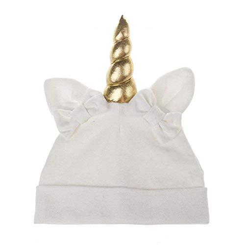 Sombrero de Unicornio para niños - Idea de Regalo Original - Blanco - Orejas - Arcos de algodón - Gorra para niños Bugs Bunny